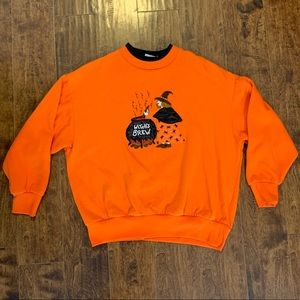 VTG 90s Halloween Witch's Brew Sweater